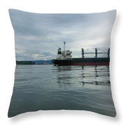 The Mighty Columbia Throw Pillow