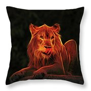 The Mighty Lion Throw Pillow