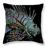The Mighty Lion Fish Throw Pillow