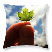 The Mighty Maple Throw Pillow