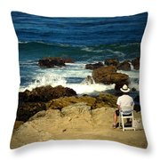 The Mighty Pacific Grab A Chair And Watch The Show Three Throw Pillow