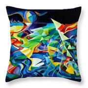 the migration of the Canadian geese Throw Pillow
