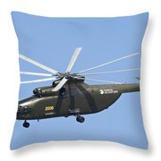 The Mil Mi-26 Cargo Helicopter Throw Pillow