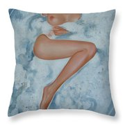 The Milk Bath Throw Pillow