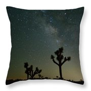 The Milky Way And Joshua Trees Throw Pillow
