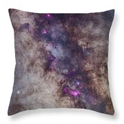 The Milky Way Around The Small Throw Pillow