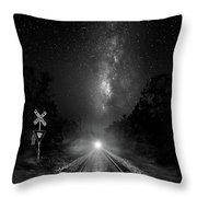 The Milky Way Express Throw Pillow