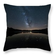 The Milky Way Over The Minho River Throw Pillow