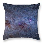The Milky Way Through Carina And Crux Throw Pillow
