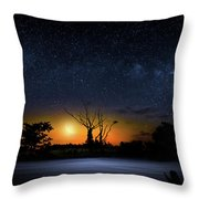 The Milky Way Tree Throw Pillow