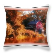 The Mill Greeting Card Throw Pillow