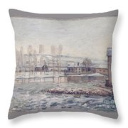 The Mills At Moret Throw Pillow