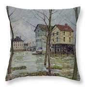 The Mills At Moret Sur Loing Throw Pillow