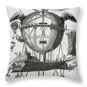 The Minerva Balloon Designed By  Tienne Throw Pillow