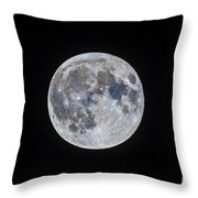 The Mini-moon Of March 5, 2015 Throw Pillow