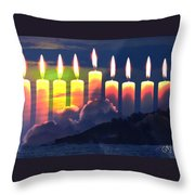 The Miracle Of Lights Throw Pillow