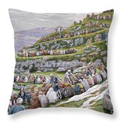 The Miracle Of The Loaves And Fishes Throw Pillow