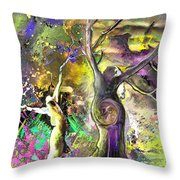 The Miraculous Conception Throw Pillow
