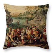 The Miraculous Draught Of Fishes Throw Pillow