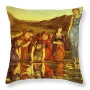 The Mirror Of Venus  Throw Pillow