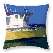 The Miss Pass A Grille Throw Pillow