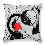 The Missing Puzzle Piece Throw Pillow