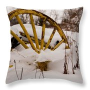 The Missing Wheel Throw Pillow