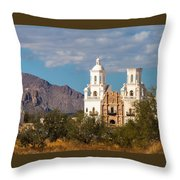 The Mission And The Mountains Throw Pillow