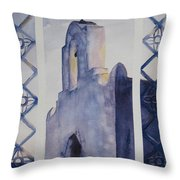 The Mission In Evening Shadow Throw Pillow