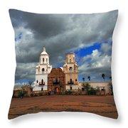 The Mission In Tuscon Arizona Throw Pillow