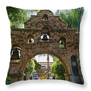 The Mission Inn Entrance Throw Pillow