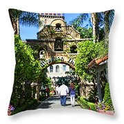 The Mission Inn Stage Coach Entrance Throw Pillow