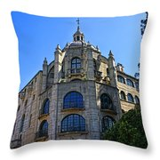 The Mission Inn Tower Throw Pillow
