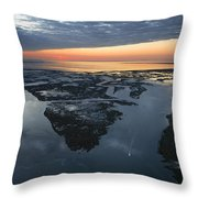 The Mississippi River Gulf Outlet Throw Pillow by Tyrone Turner
