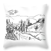 The Mist At The River Oka. 1 Septemper, 2015 Throw Pillow