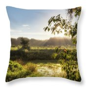 The Mists Of The Morning Throw Pillow