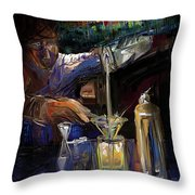 The Mixologist Throw Pillow