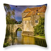 The Moat At Leeds Castle Throw Pillow