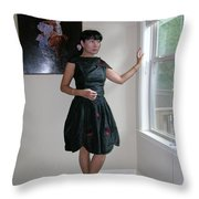 The Model And The Painting Throw Pillow