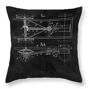 The Model T Patent Throw Pillow