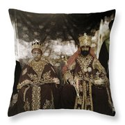 The Monarchs Haile Selassie The First Throw Pillow
