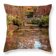 The Monet Bridge Throw Pillow