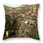 The Monstery Of Mar Saba Throw Pillow