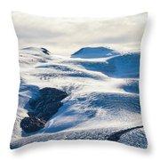 The Monte Rosa Glacier In Switzerland Throw Pillow