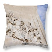 The Monument To The Discoveries Throw Pillow
