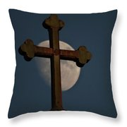 The Moon And The Cross  Throw Pillow
