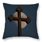 The Moon And The Cross IIi. Throw Pillow