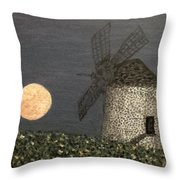 The Moon And The Windmill Throw Pillow