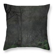 The Moon Over Guisecliff Throw Pillow