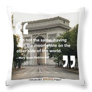 The Moon Shines Throw Pillow